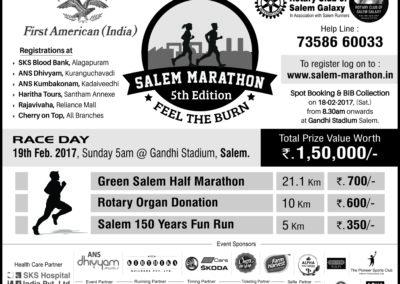 Salem Marathon, 10 x 12, Bw